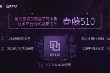 紫光展锐荣获5G突出贡献奖 5G芯片可支持SA和NSA